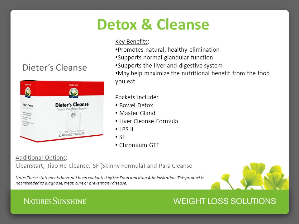 Detox & Cleanse Dieter's Cleanse Key Benefits: