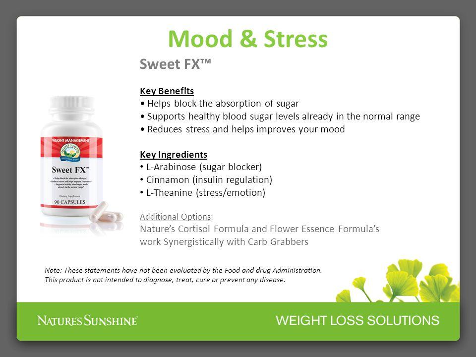 Mood & Stress Sweet FX™ Key Benefits
