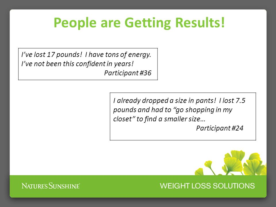 People are Getting Results!