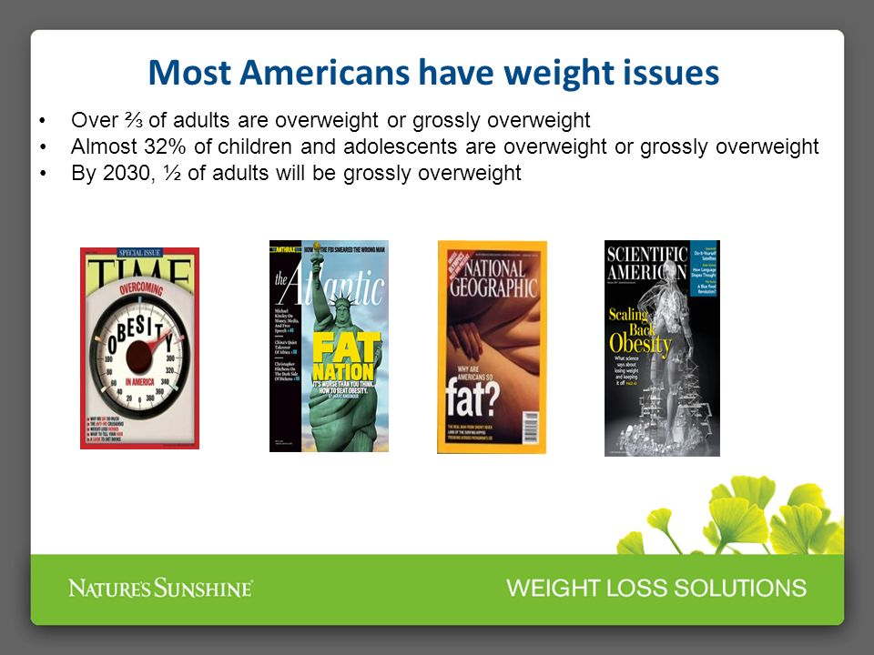 Most Americans have weight issues