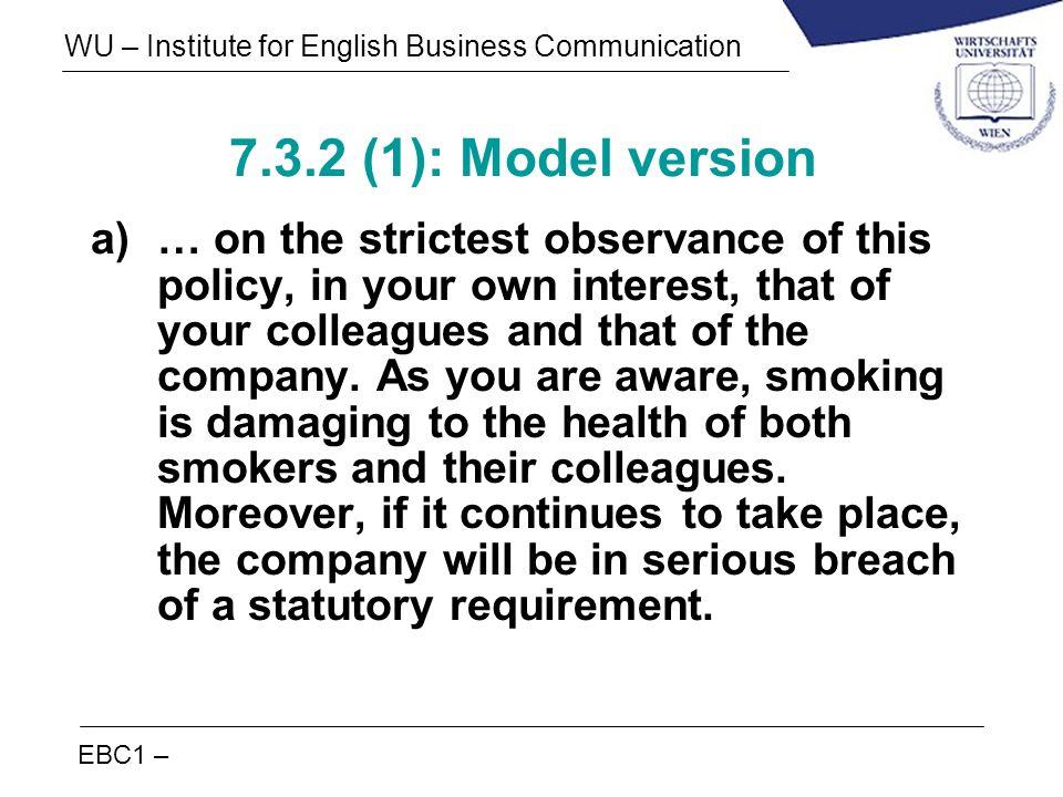 7.3.2 (1): Model version