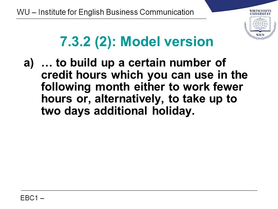 7.3.2 (2): Model version