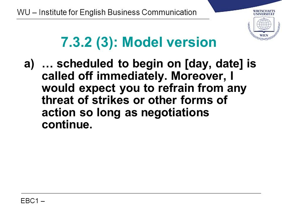 7.3.2 (3): Model version