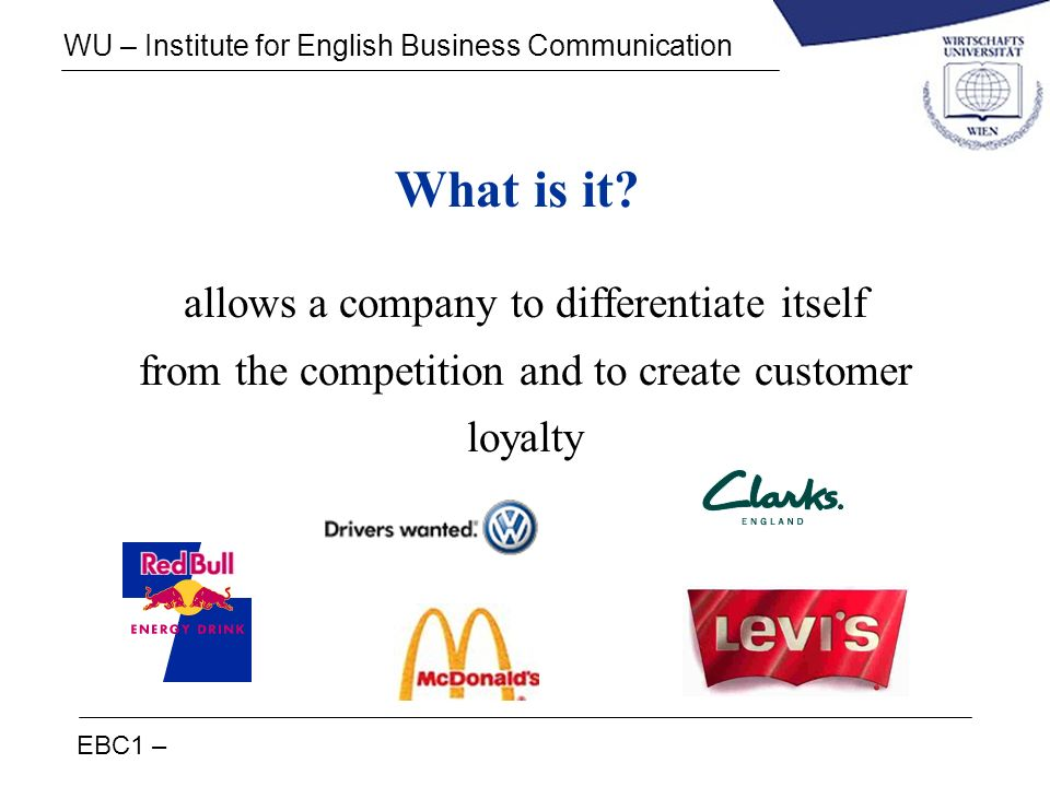 What is it allows a company to differentiate itself