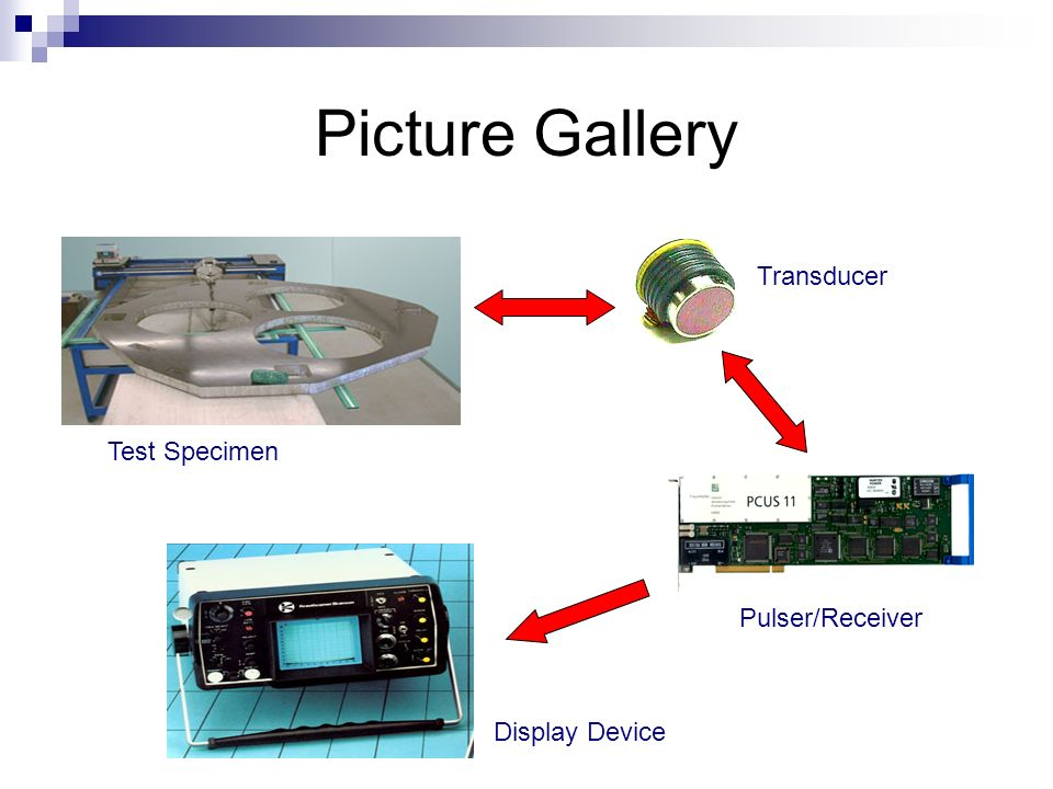 Picture Gallery Transducer Test Specimen Pulser/Receiver