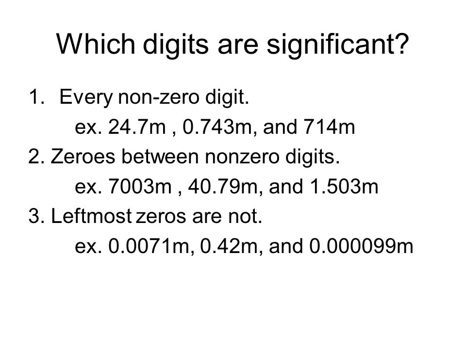 Which digits are significant