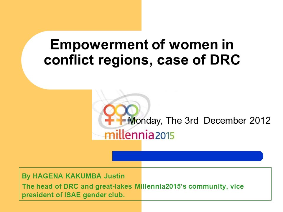 Empowerment of women in conflict regions, case of DRC