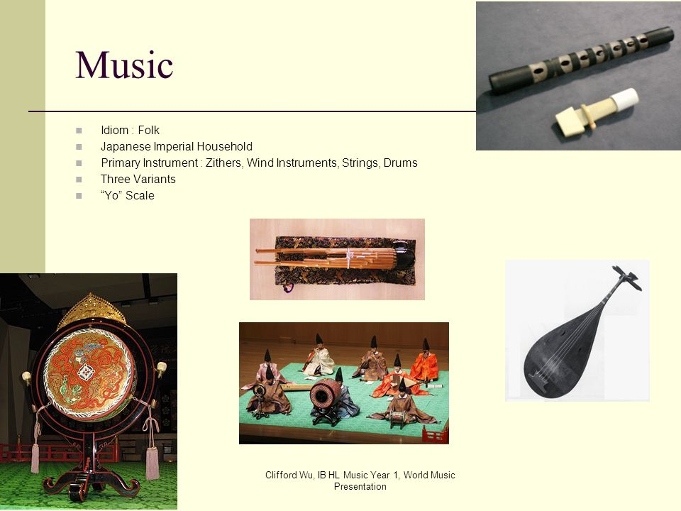 Clifford Wu, IB HL Music Year 1, World Music Presentation