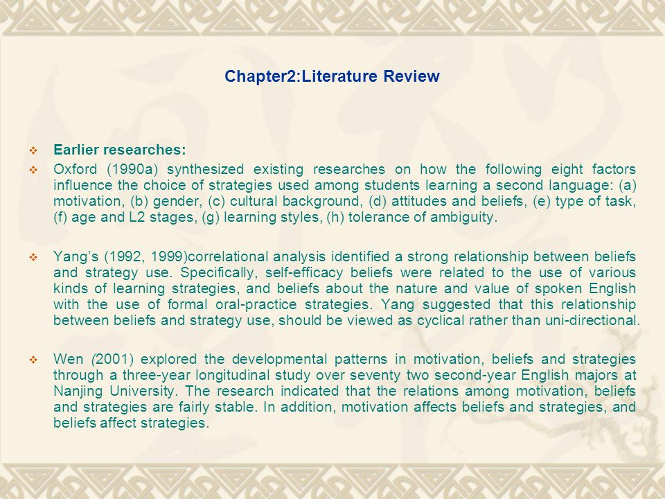 Chapter2:Literature Review
