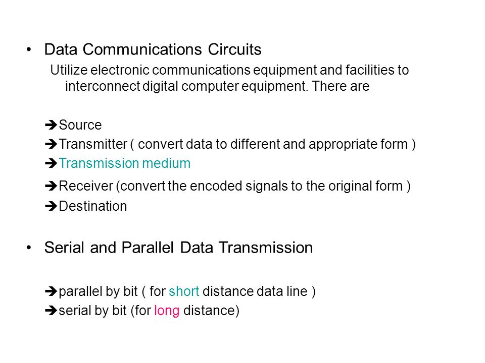 Data Communications Circuits