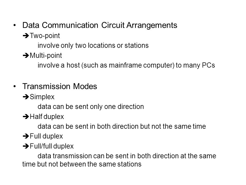 Data Communication Circuit Arrangements