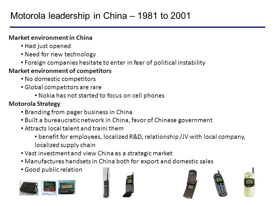 Motorola leadership in China – 1981 to 2001