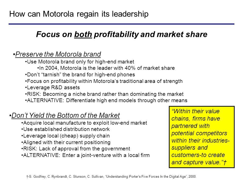 How can Motorola regain its leadership
