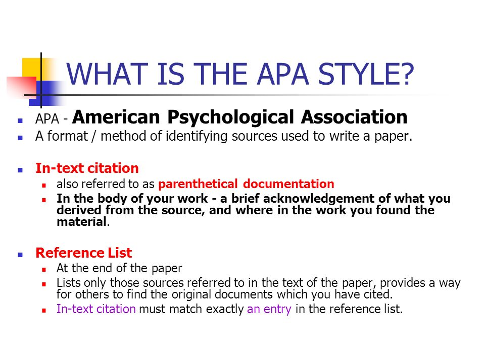 WHAT IS THE APA STYLE APA - American Psychological Association
