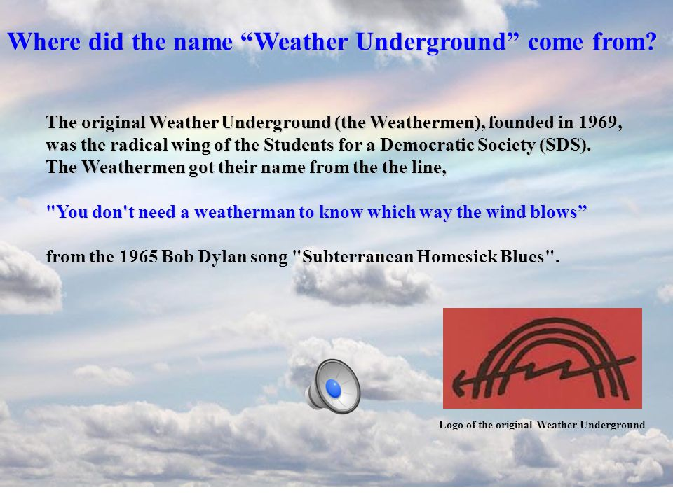 Where did the name Weather Underground come from