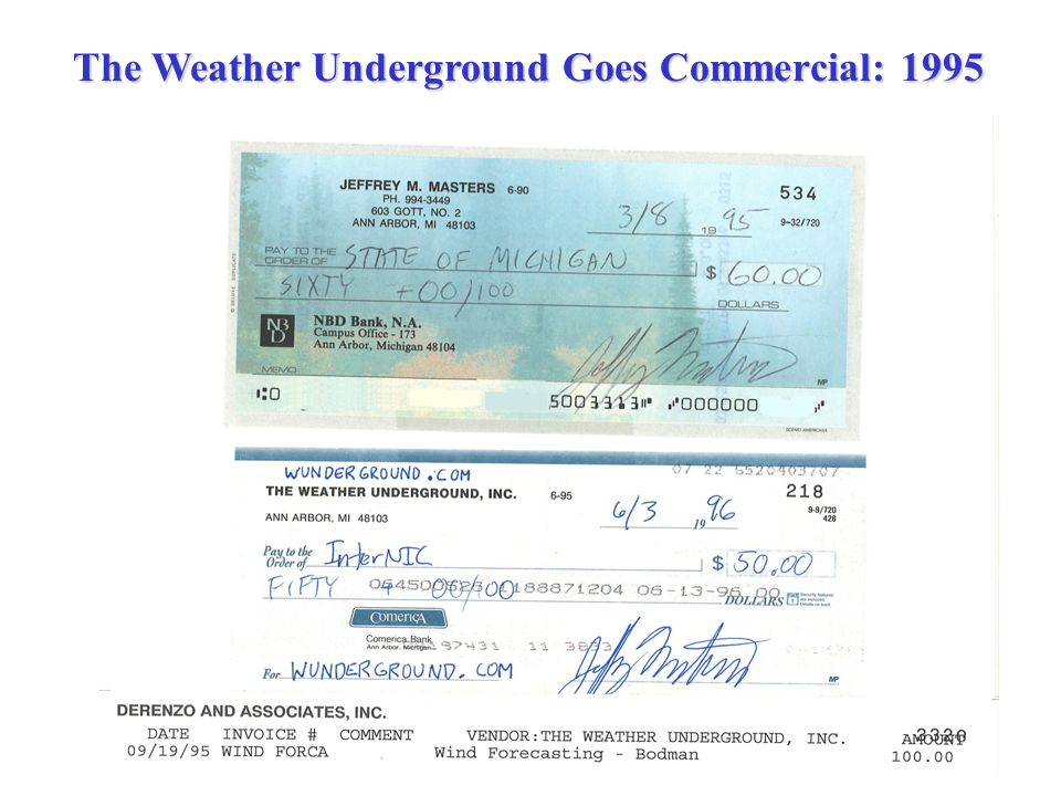The Weather Underground Goes Commercial: 1995