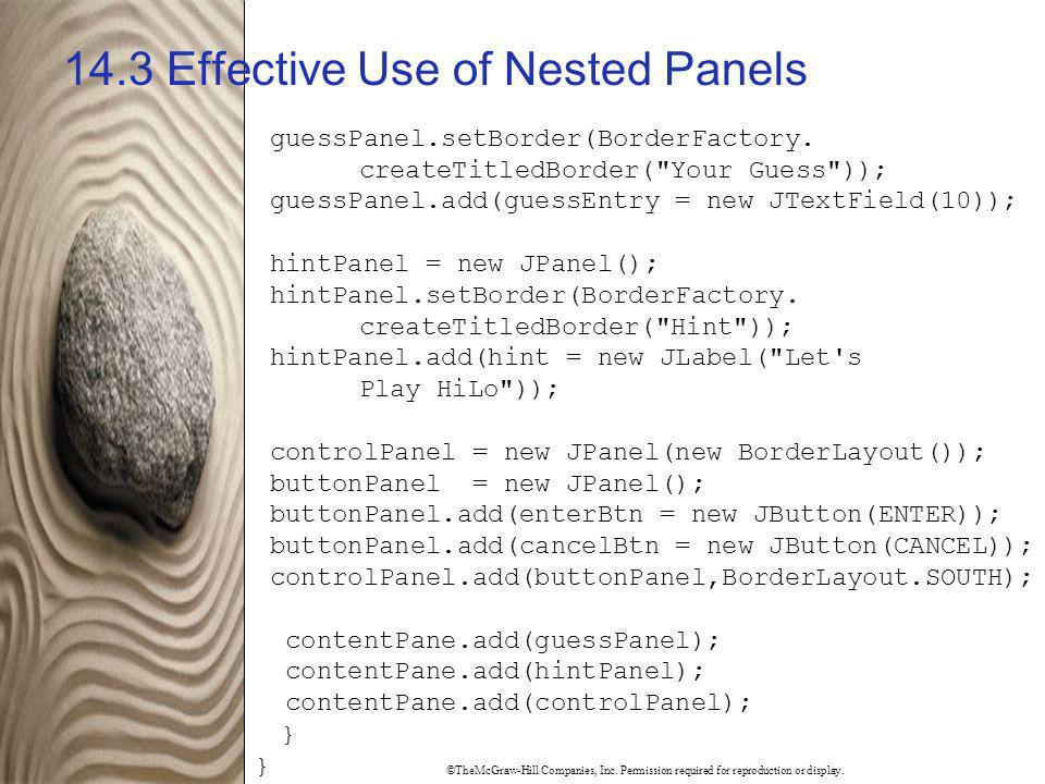 14.3 Effective Use of Nested Panels