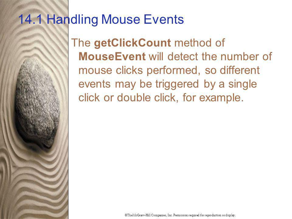 14.1 Handling Mouse Events