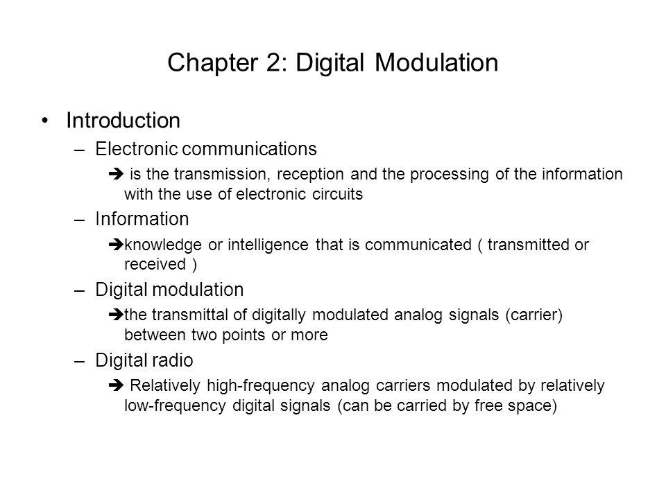 Chapter 2: Digital Modulation