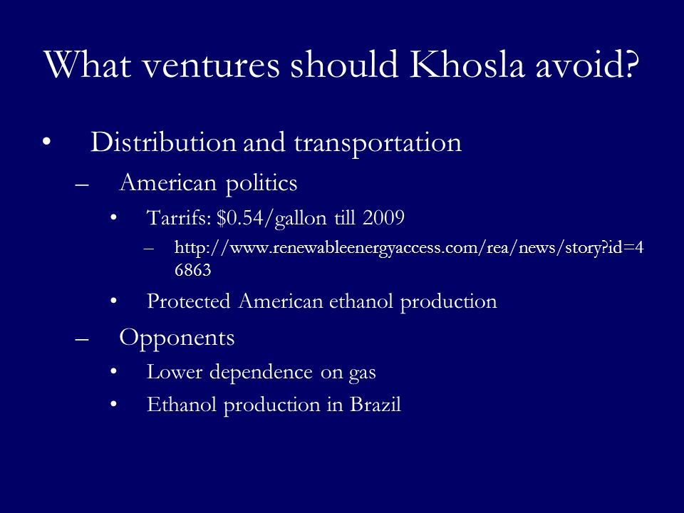 What ventures should Khosla avoid