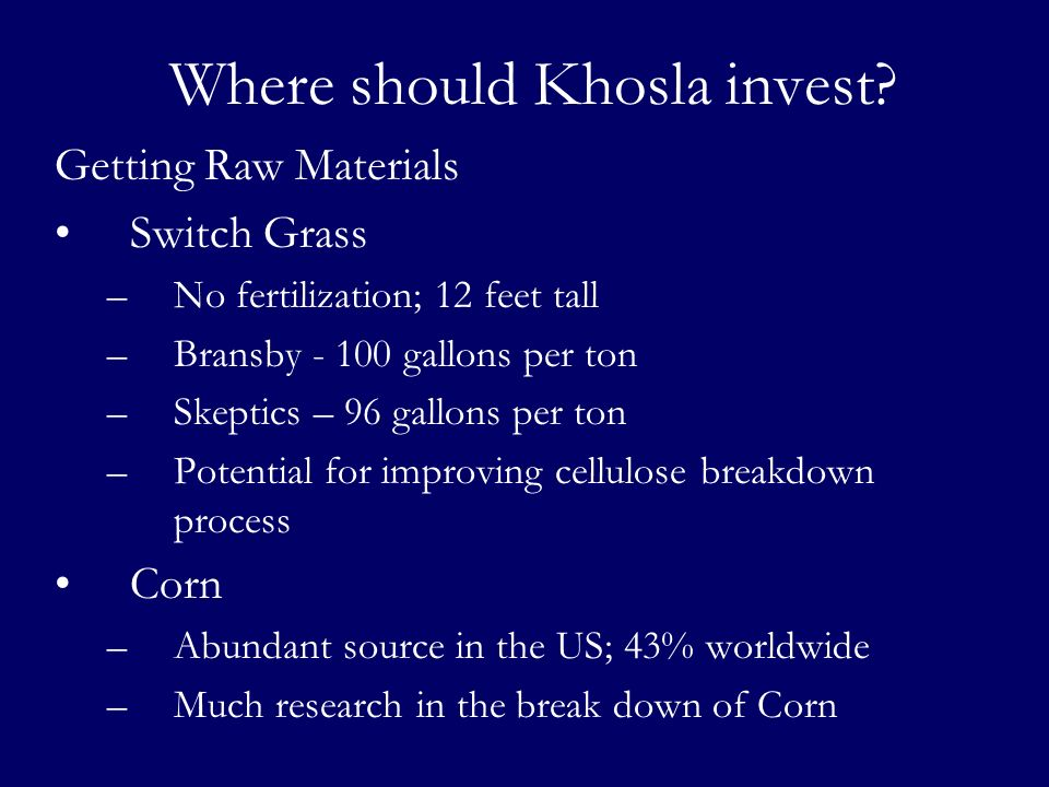 Where should Khosla invest