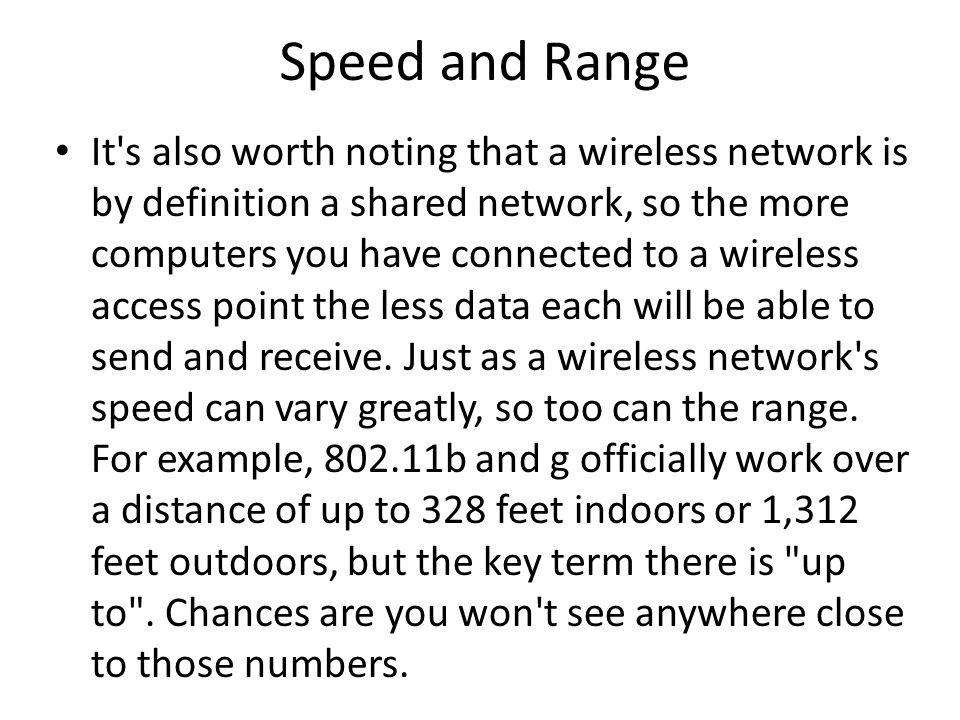 Speed and Range
