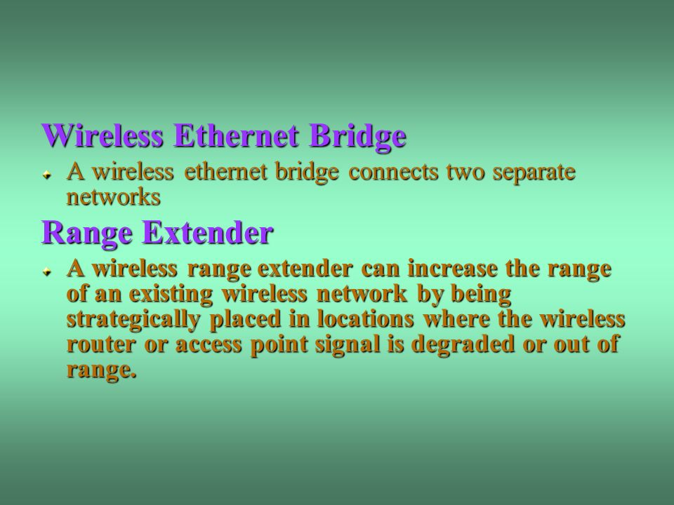 Wireless Ethernet Bridge Range Extender