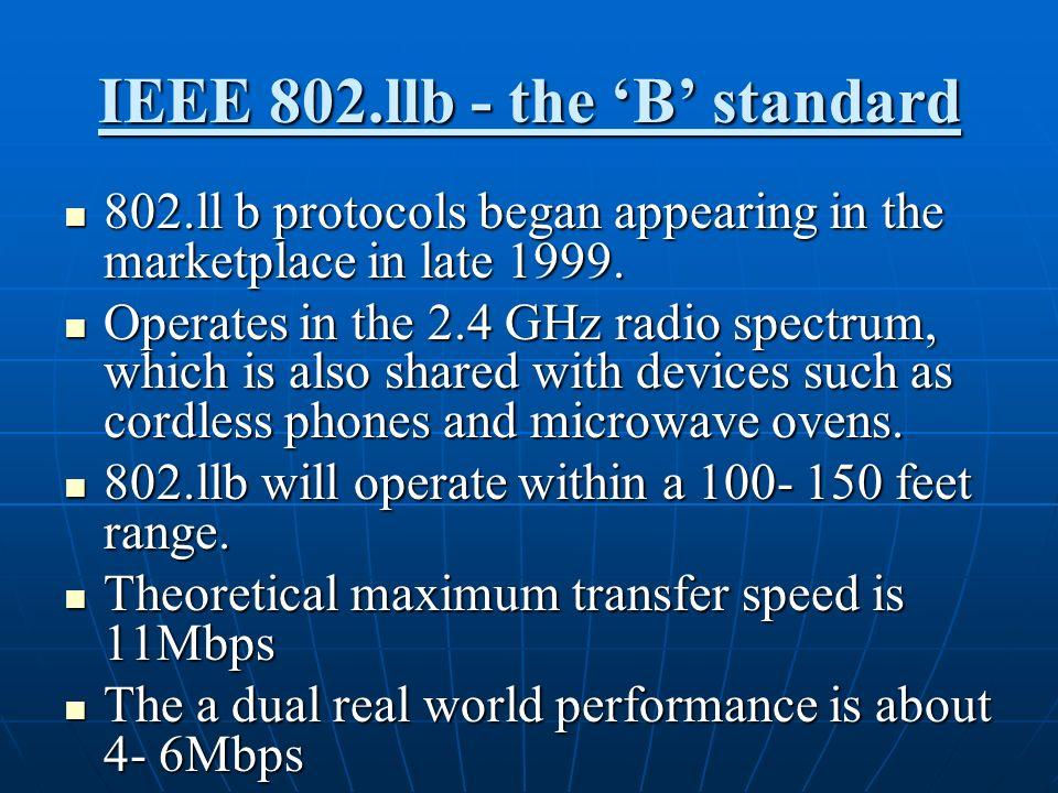 IEEE 802.llb - the 'B' standard