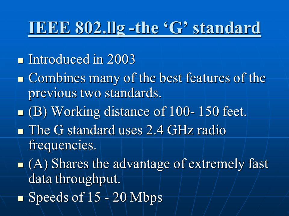IEEE 802.llg -the 'G' standard