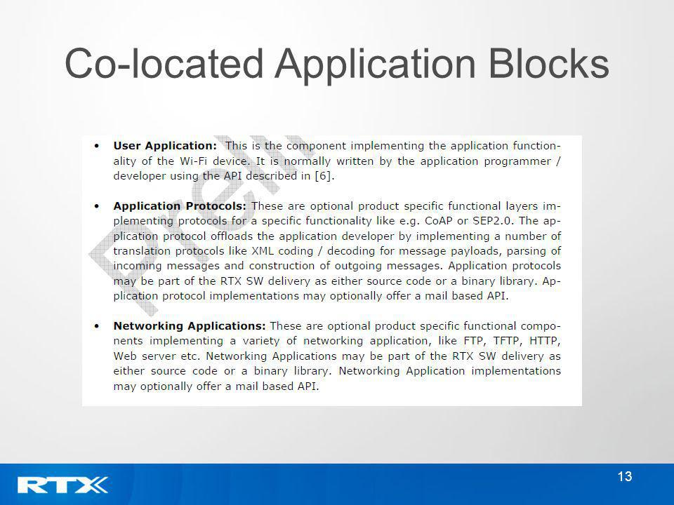 Co-located Application Blocks