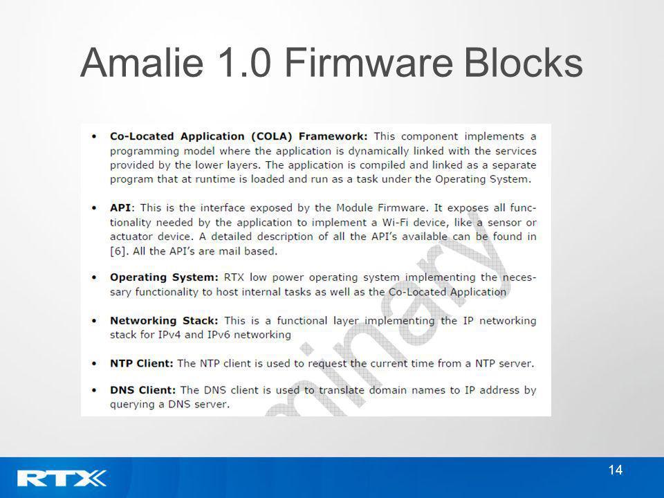 Amalie 1.0 Firmware Blocks