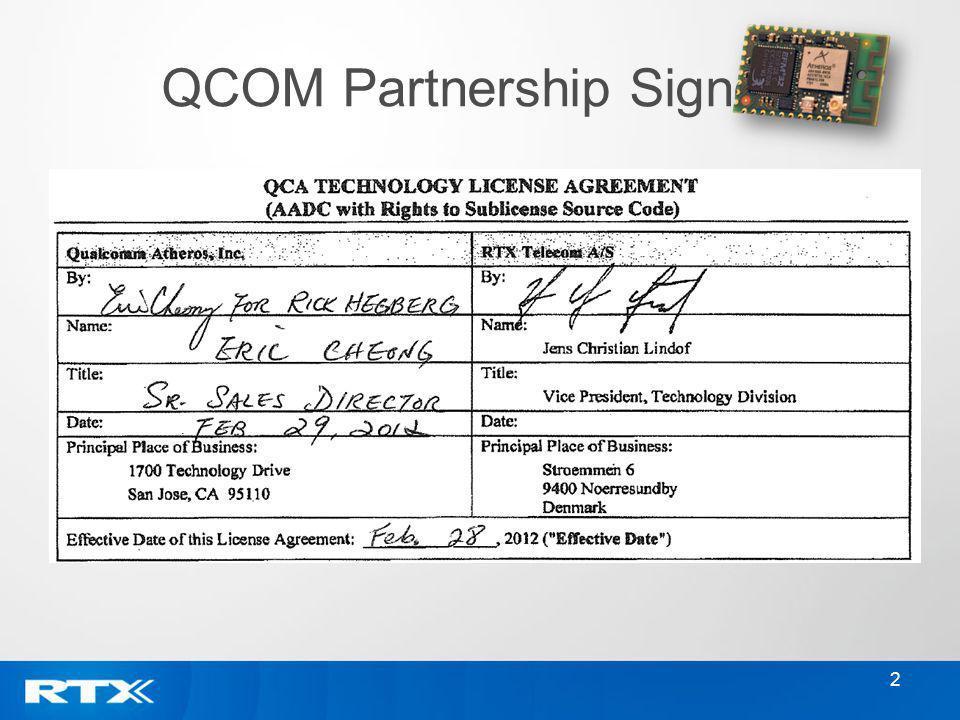 QCOM Partnership Signed