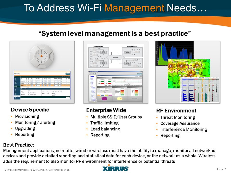 To Address Wi-Fi Management Needs…
