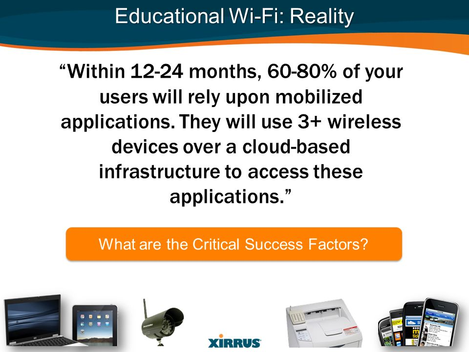 Educational Wi-Fi: Reality