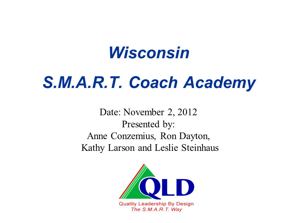 Wisconsin S.M.A.R.T. Coach Academy