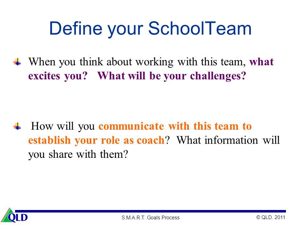 Define your SchoolTeam