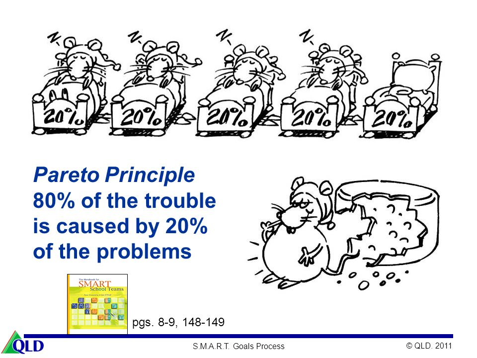 Pareto Principle 80% of the trouble is caused by 20% of the problems