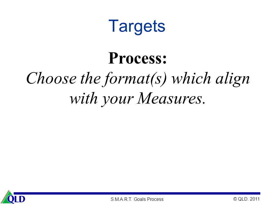 Choose the format(s) which align with your Measures.