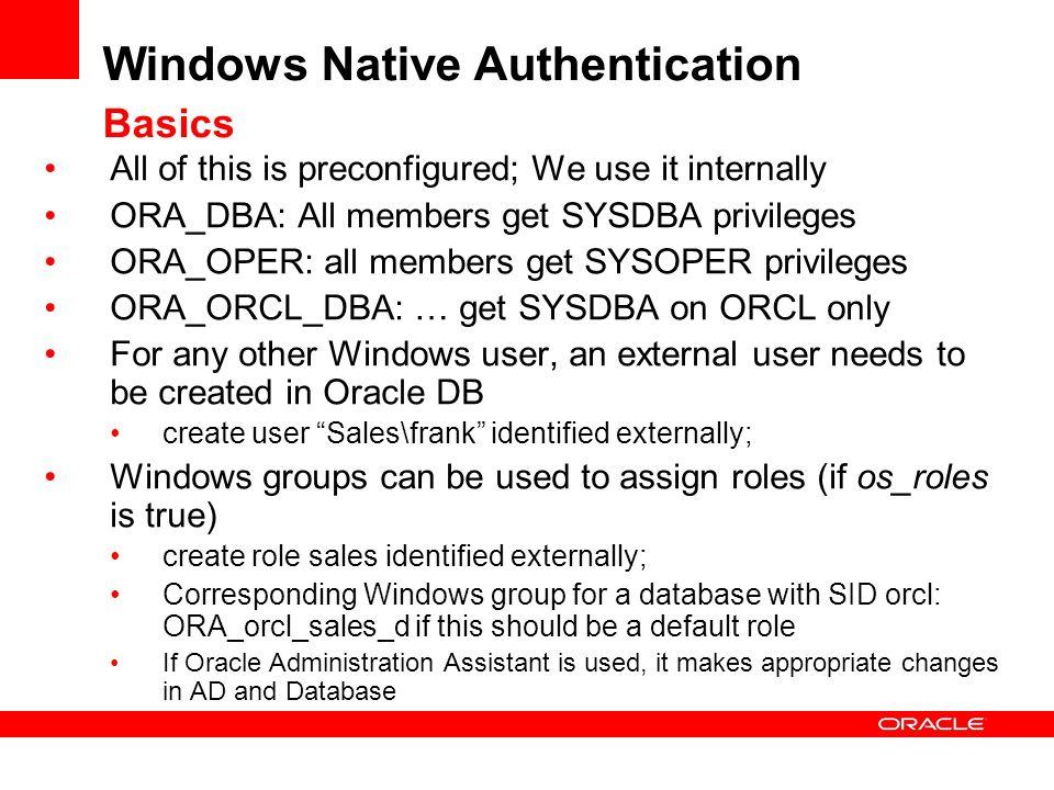 Windows Native Authentication Basics