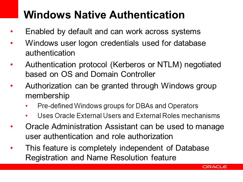 Windows Native Authentication