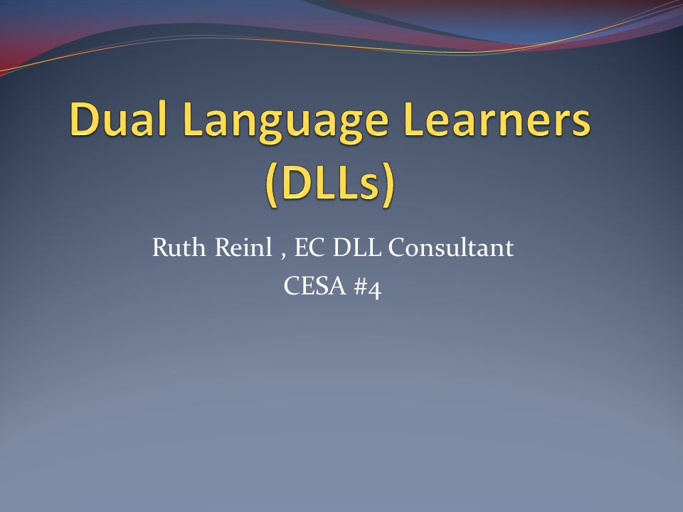 Dual Language Learners (DLLs)