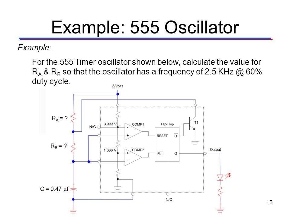 Example: 555 Oscillator Example:
