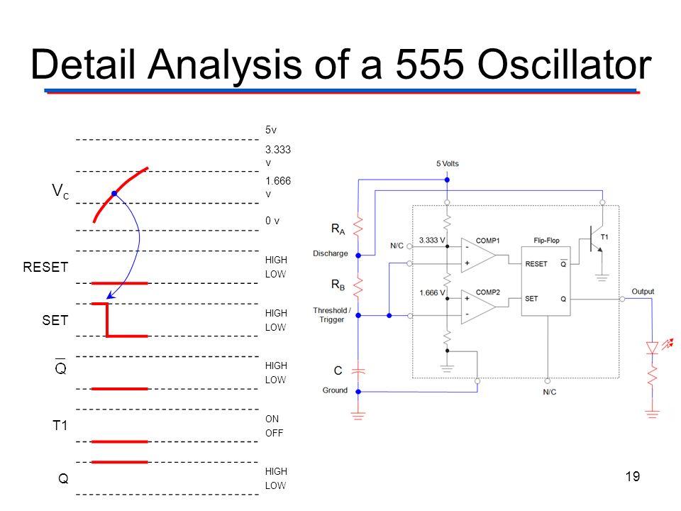 Detail Analysis of a 555 Oscillator