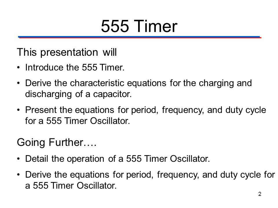 555 Timer This presentation will Going Further….
