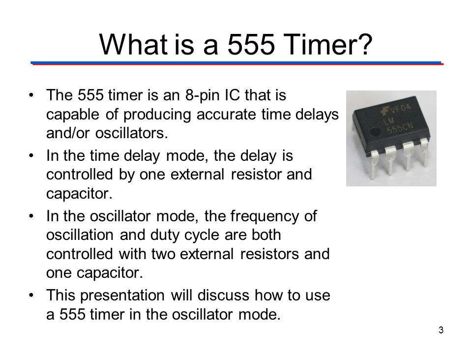 555 Timer Digital Electronics TM. 1.2 Introduction to Analog. What is a 555 Timer