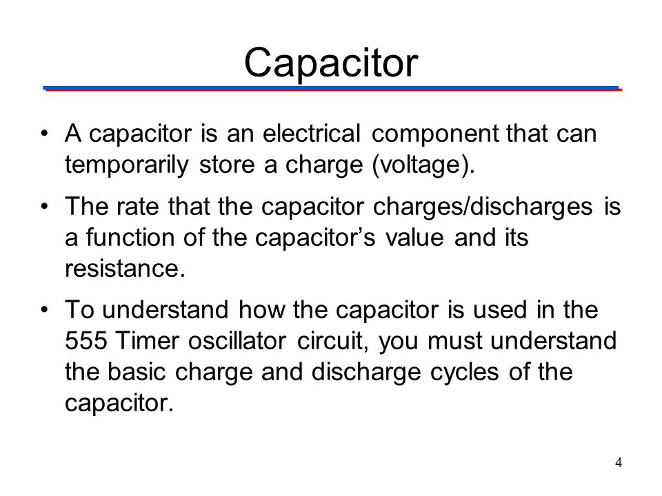 555 Timer Digital Electronics TM. 1.2 Introduction to Analog. Capacitor.