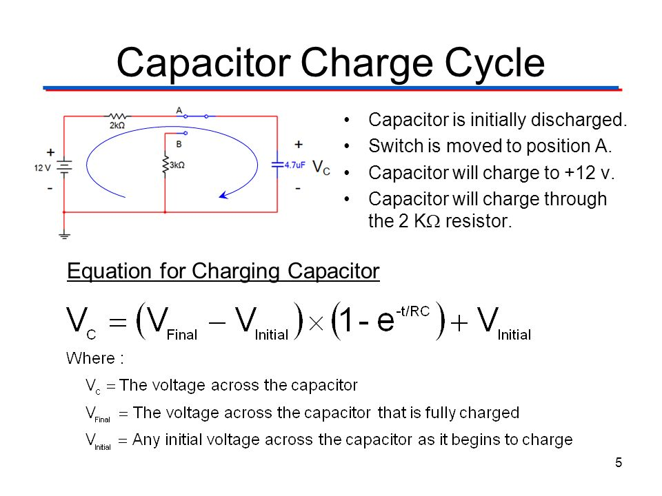 Capacitor Charge Cycle