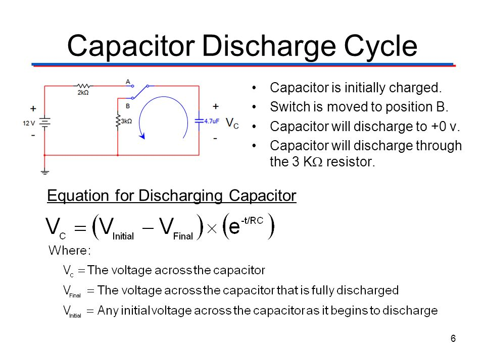 Capacitor Discharge Cycle