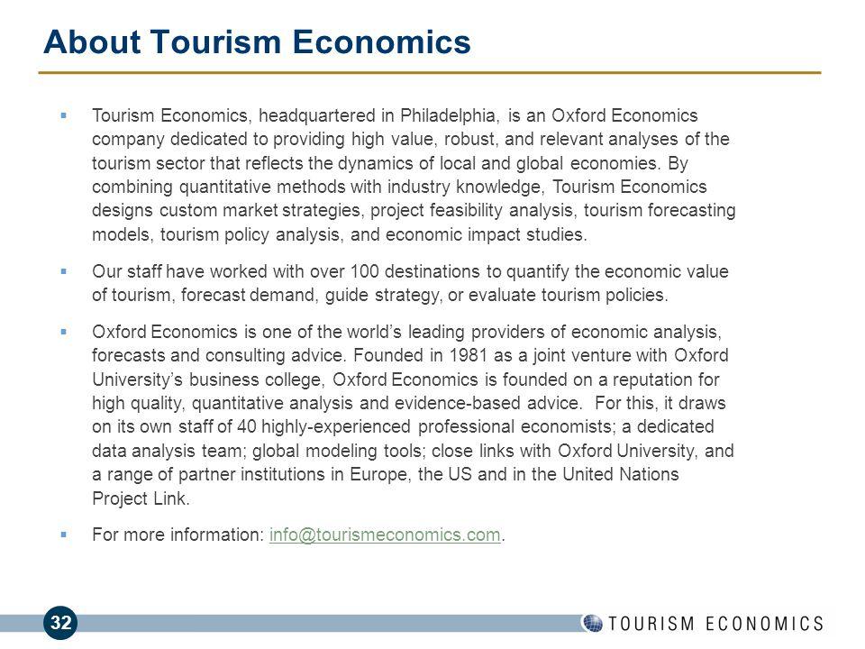 About Tourism Economics