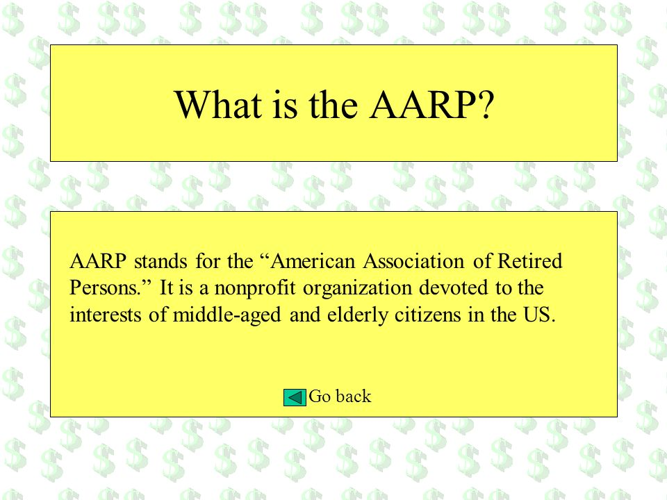 What is the AARP